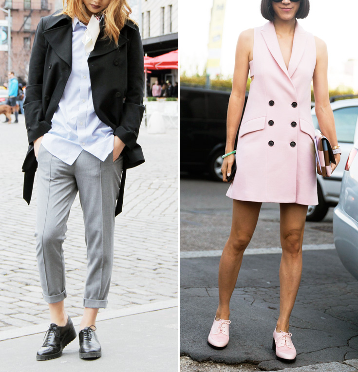 <p>Try a Menswear-Inspired Look</p>