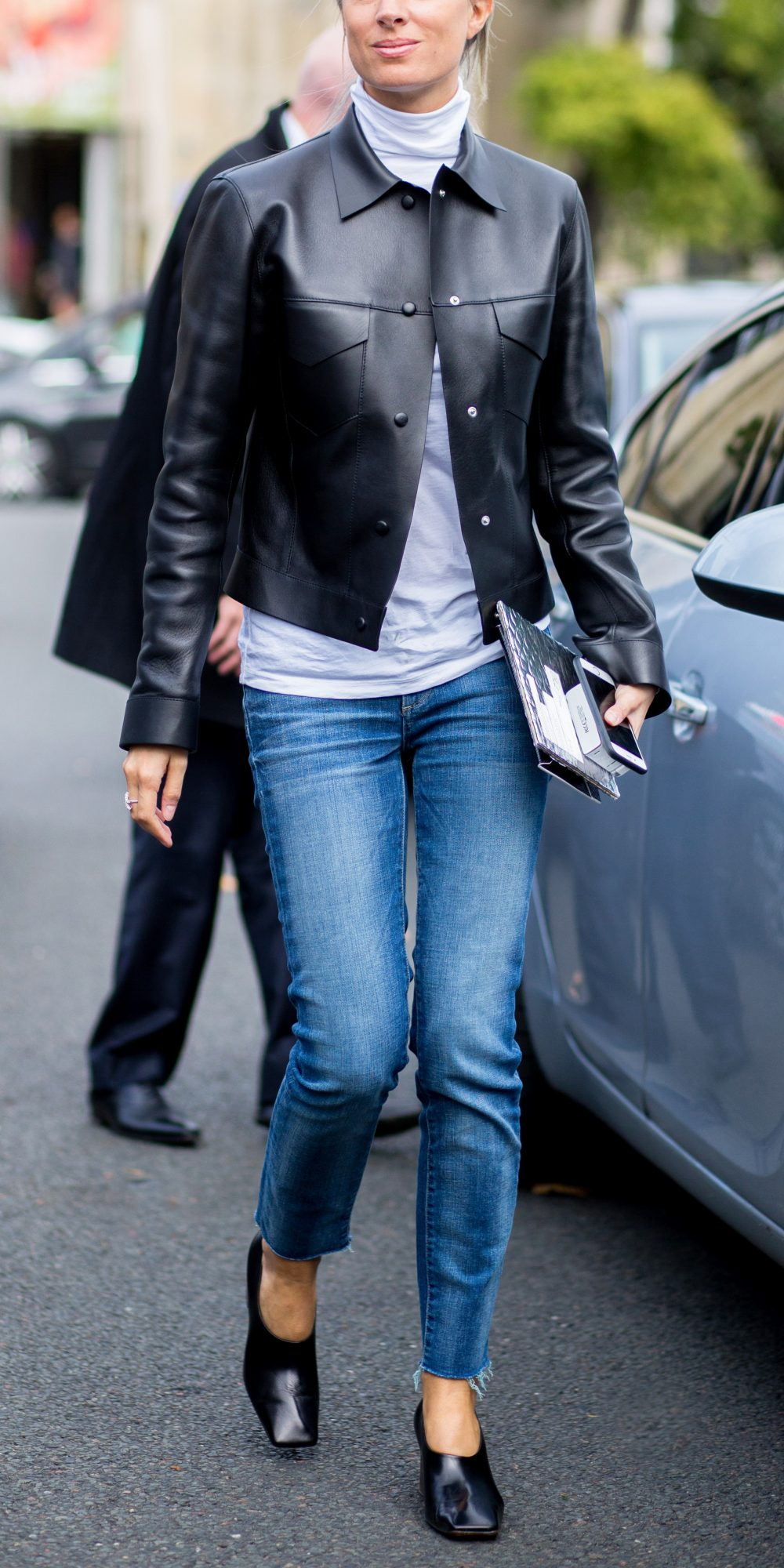 How To Wear A Leather Jacket Instyle Com