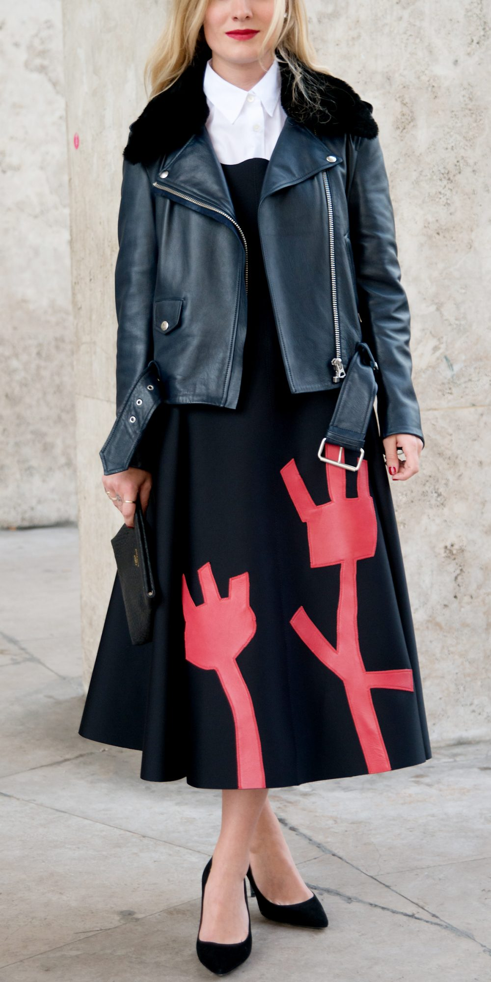 How to wear a leather jacket instyle pstronglook ombrellifo Image collections