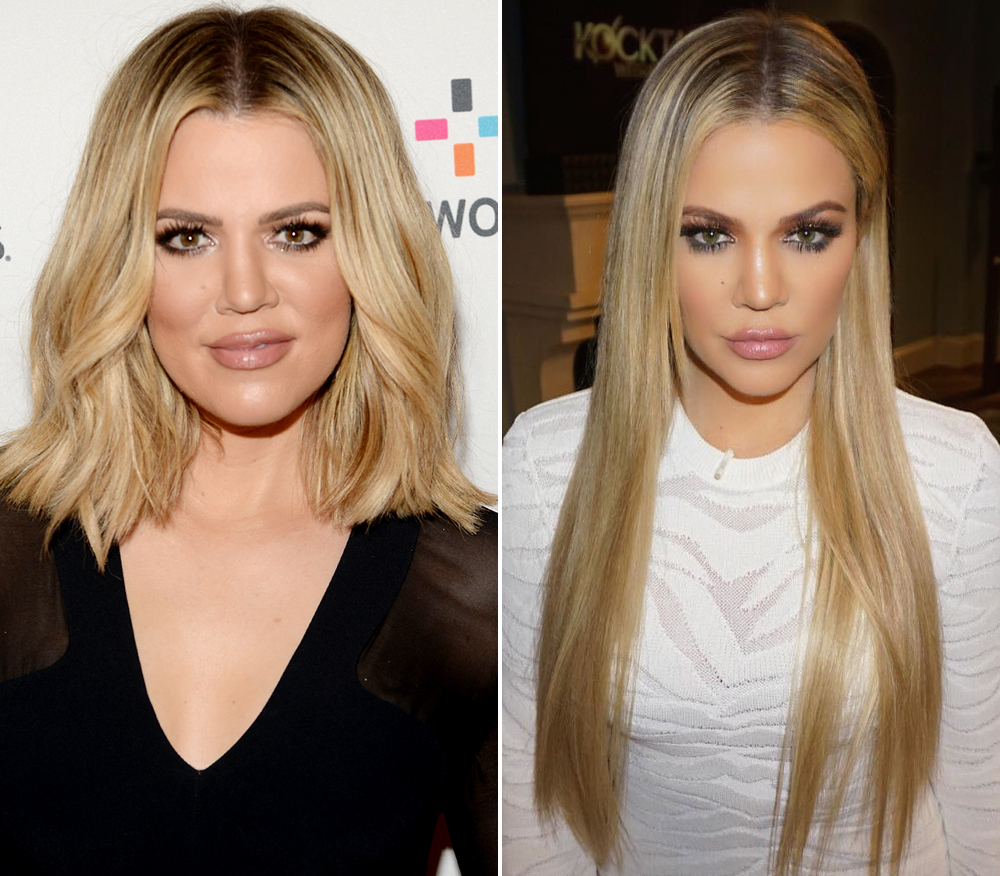 Khlo 233 Kardashian Updates Her Look With Long Extensions