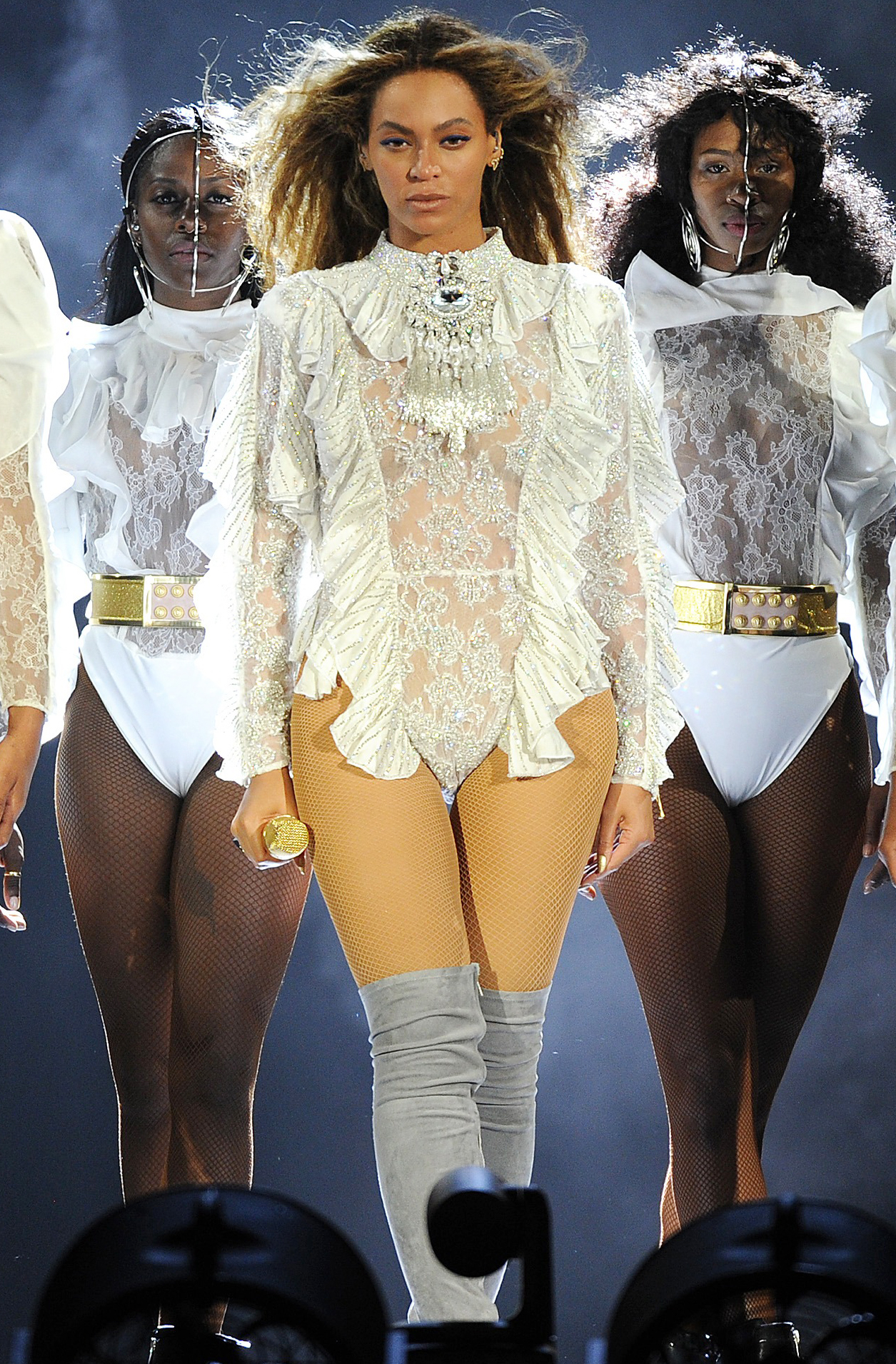 Beyonce In Bodysuits On Stage Instyle Com
