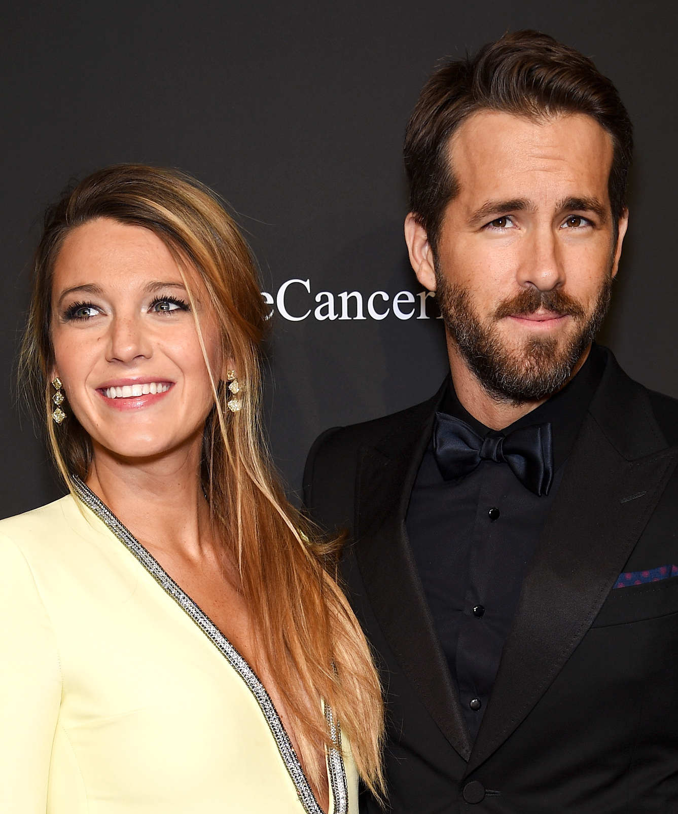 Actress Blake Lively (L) and Ryan Reynolds attend Angel Ball 2014 hosted by Gabrielle's Angel Foundation at Cipriani Wall Street on October 20, 2014 in New York City.