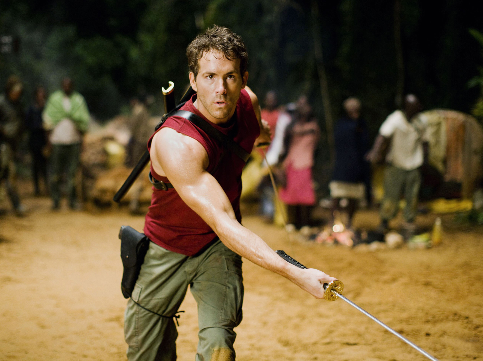 "Sebagai Wade Wilson in <em>X-Men Origins: The Wolverine</em>, 2009.<br/>""></div></div></div><div class="