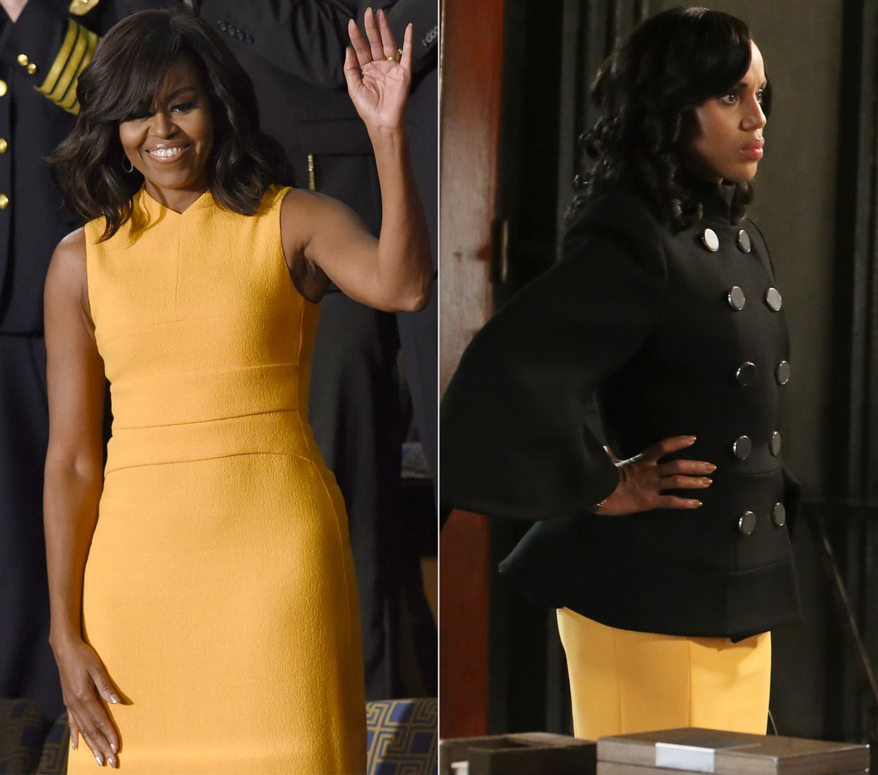 Olivia Pope and Michelle Obama Have the Same Style—They Wore Matching Dresses!