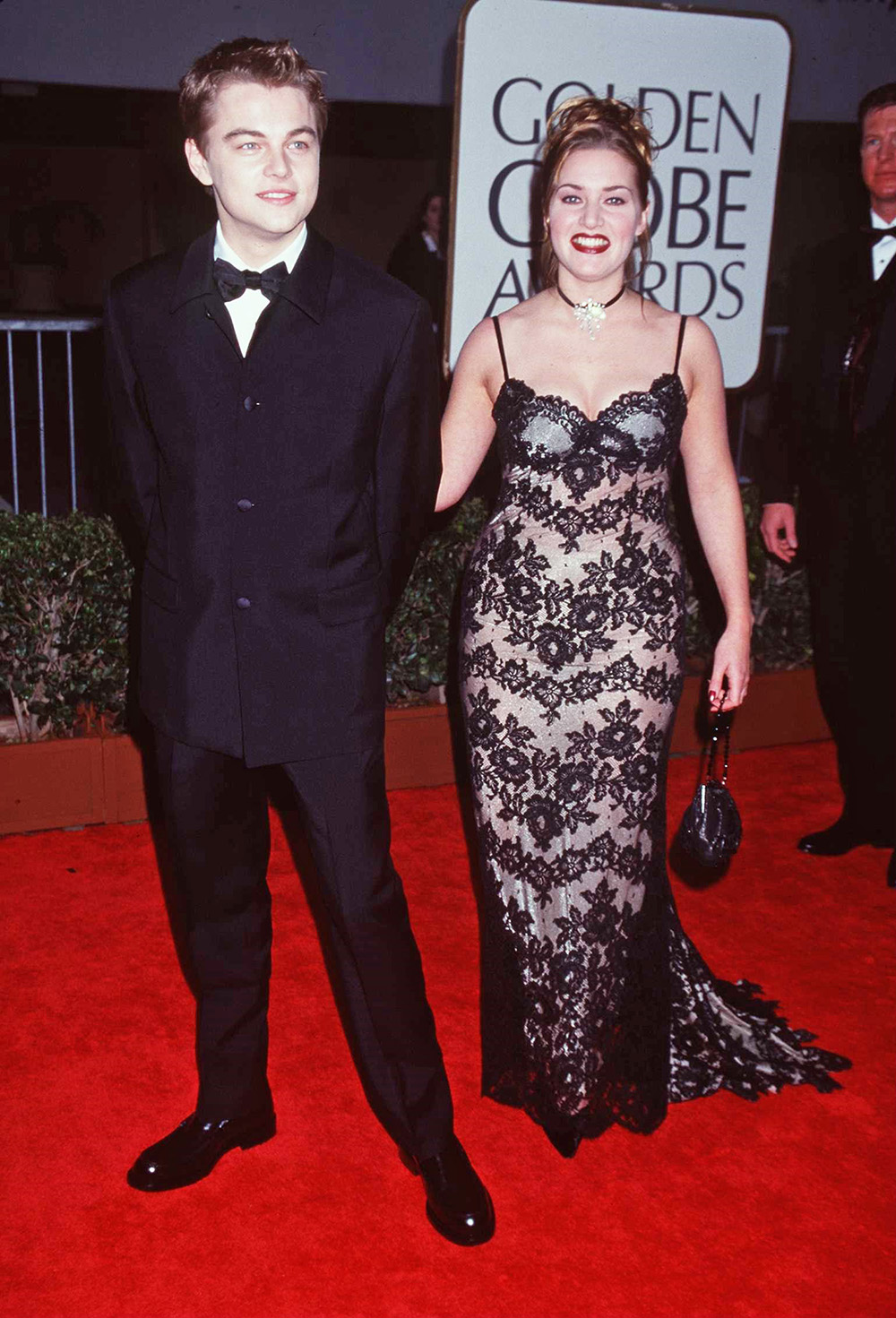 <p>Kate and Leo at the 1998 Golden Globes</p>