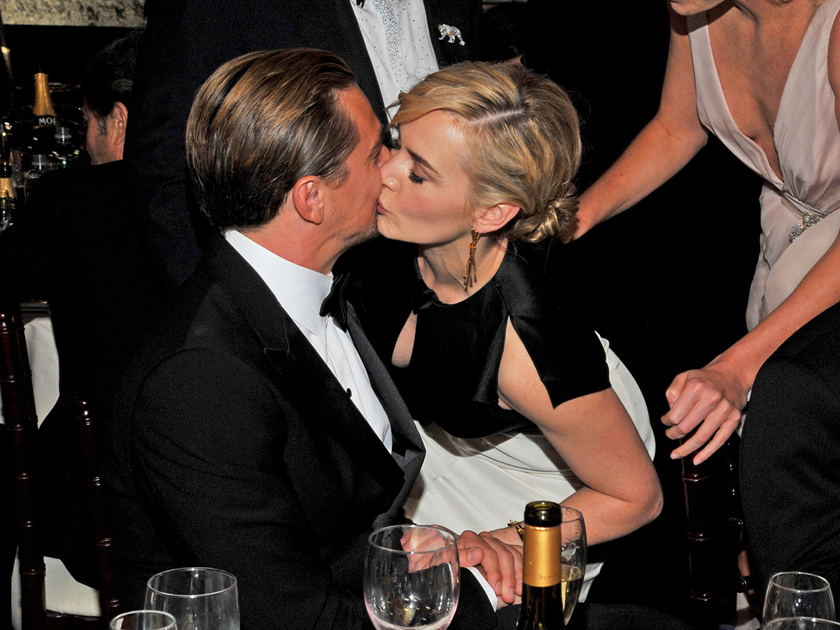 Kate and Leo at the 2012 Golden Globes