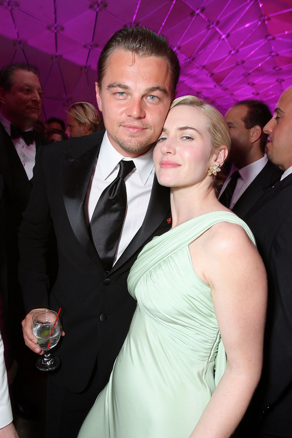 <p>Kate and Leo at the 2007 Academy Awards</p>