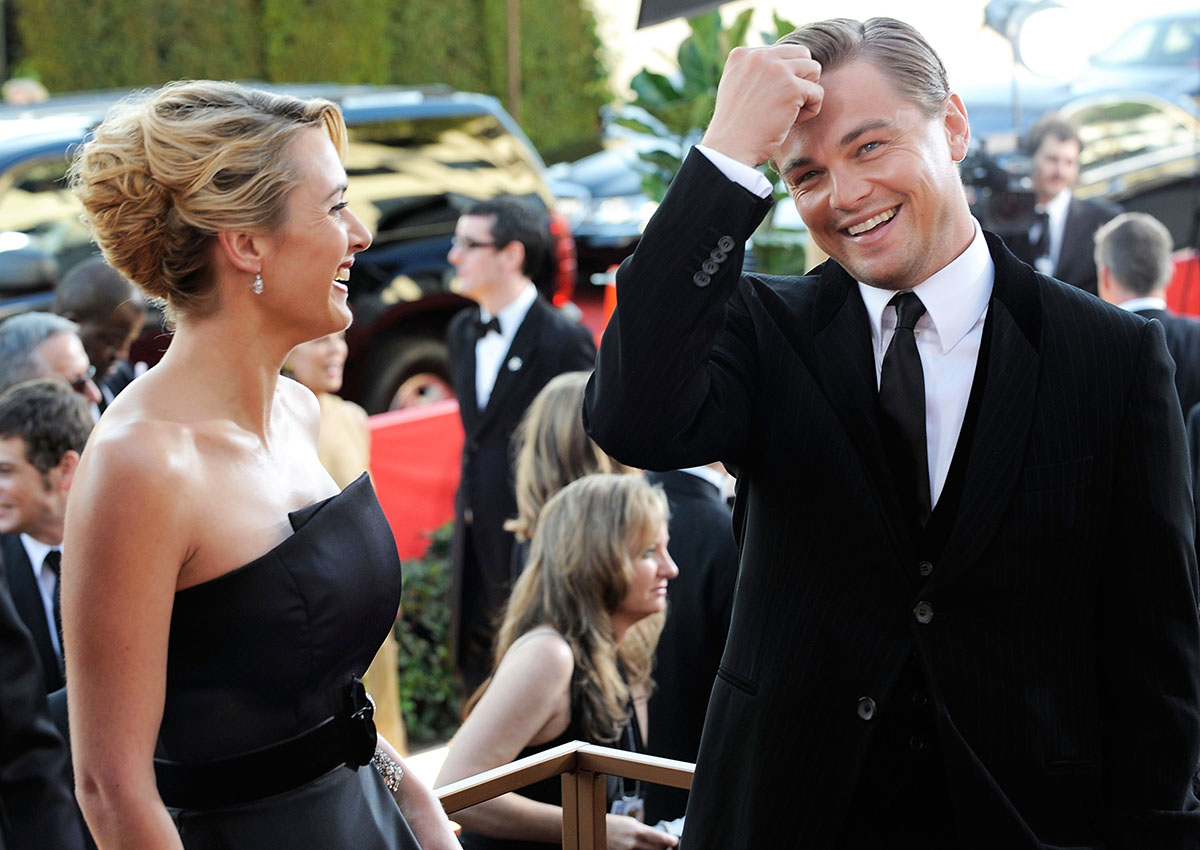 <p>Kate and Leo at the 2009 Golden Globes</p>