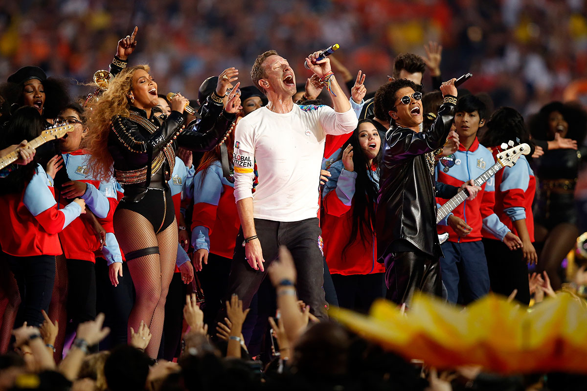 Beyoncé, Coldplay, and Bruno Mars Delivered an Epic Super Bowl Halftime Performance