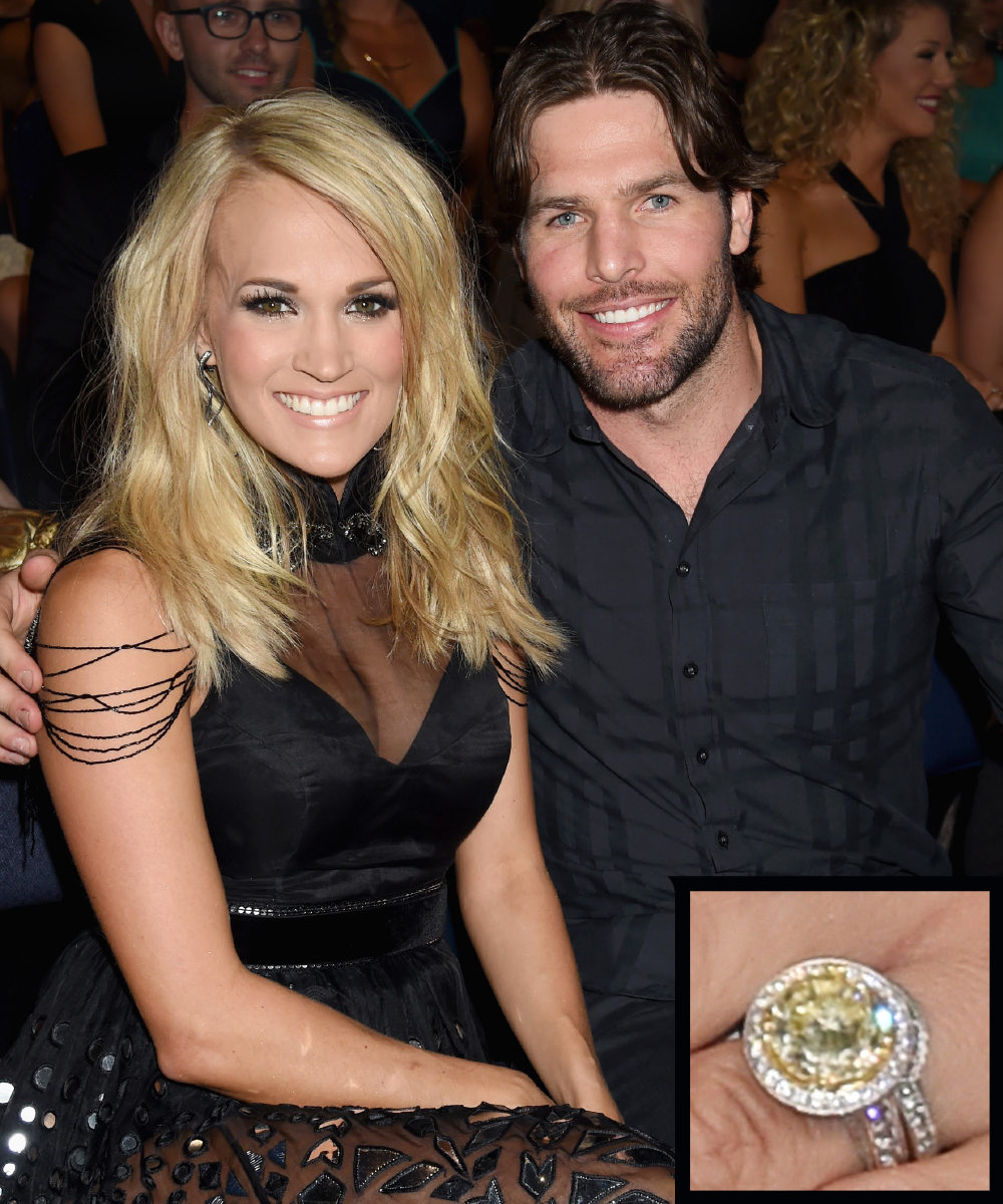 <p>Carrie Underwood and Mike Fisher</p>
