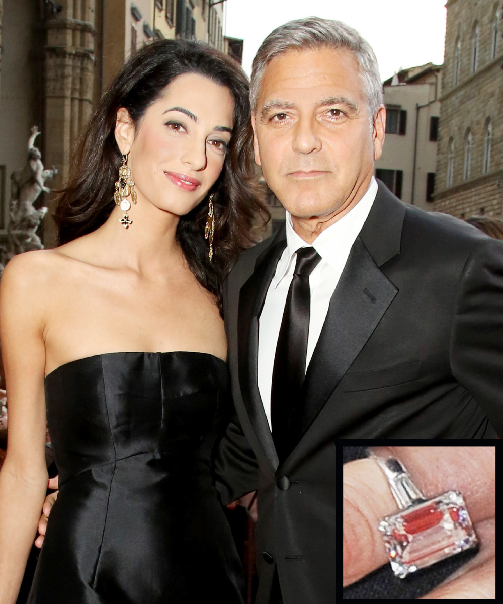 <p>Amal Clooney and George Clooney</p>