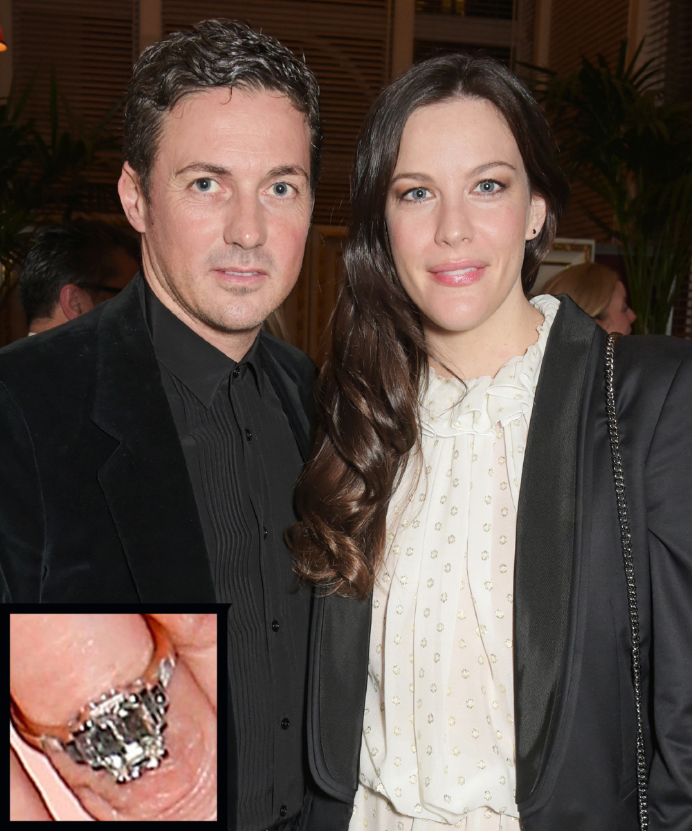 <p>Liv Tyler and Dave Gardner</p>