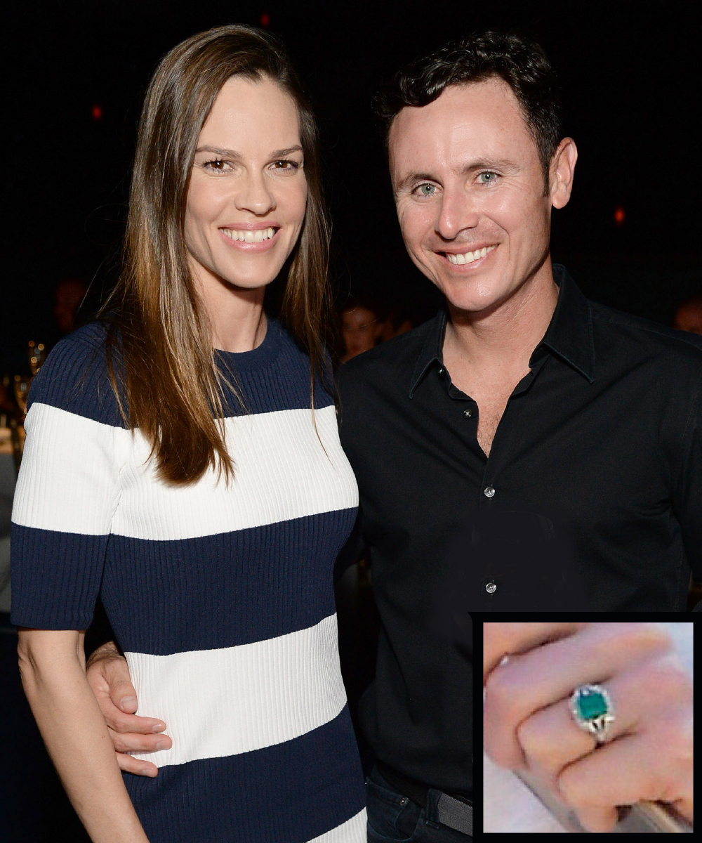 <p>Hilary Swank and Ruben Torres</p>