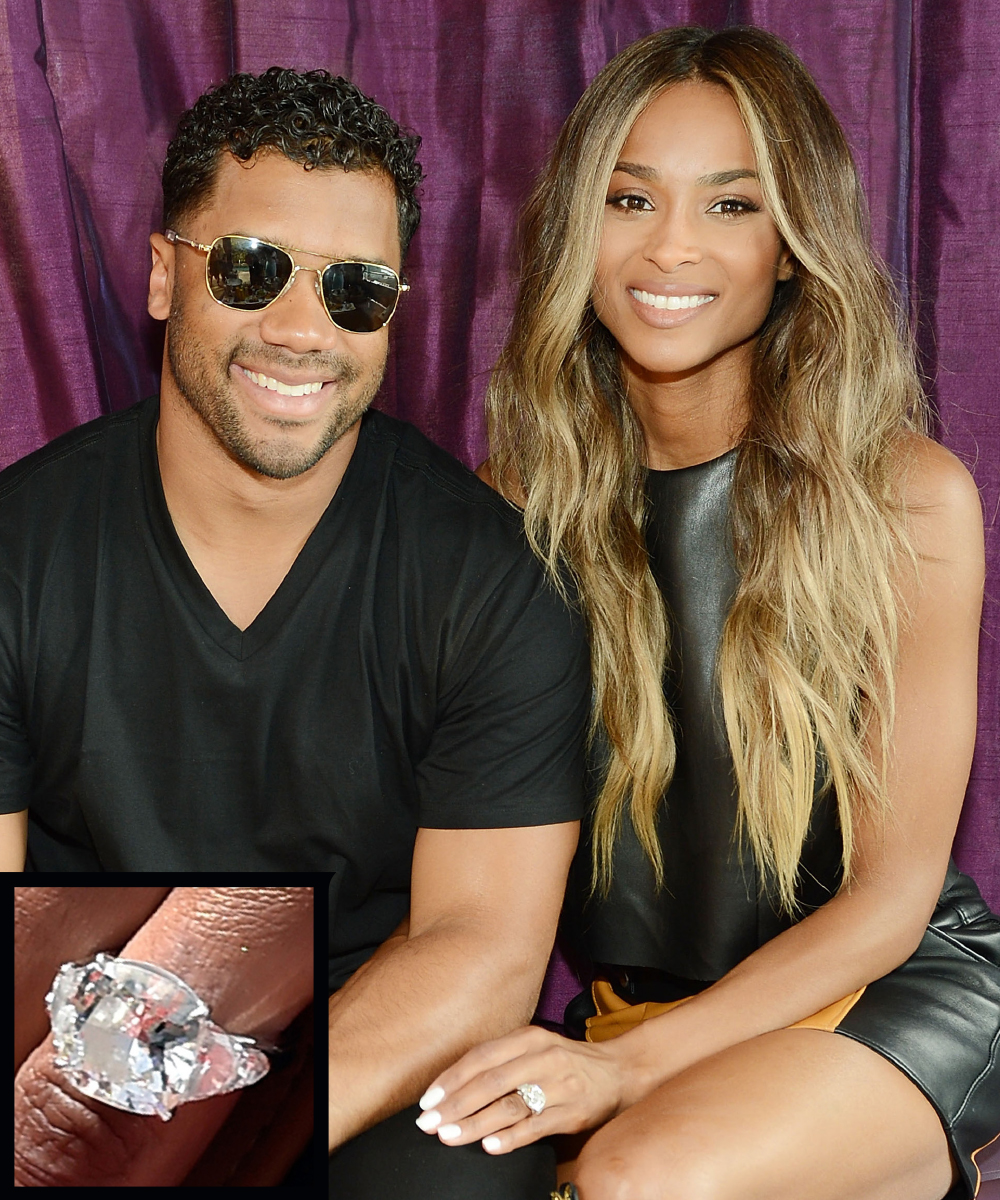<p>Ciara and Russell Wilson</p>