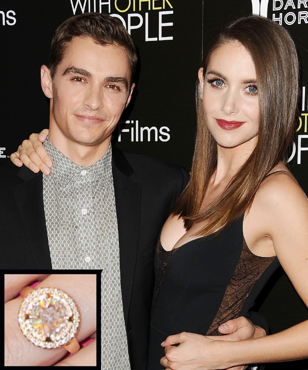 <p>Alison Brie and Dave Franco</p>