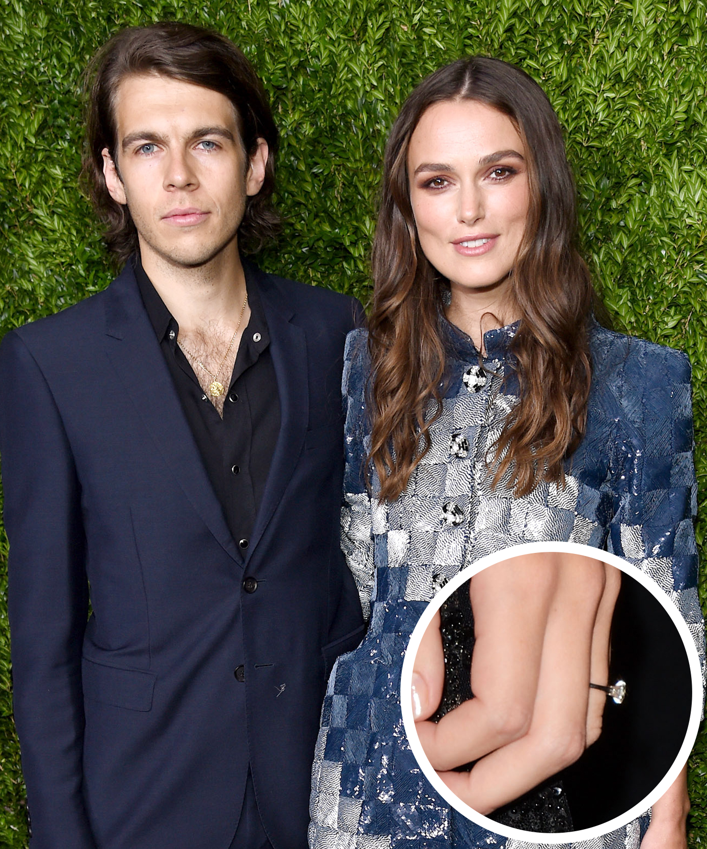<p>Keira Knightley and James Righton</p>
