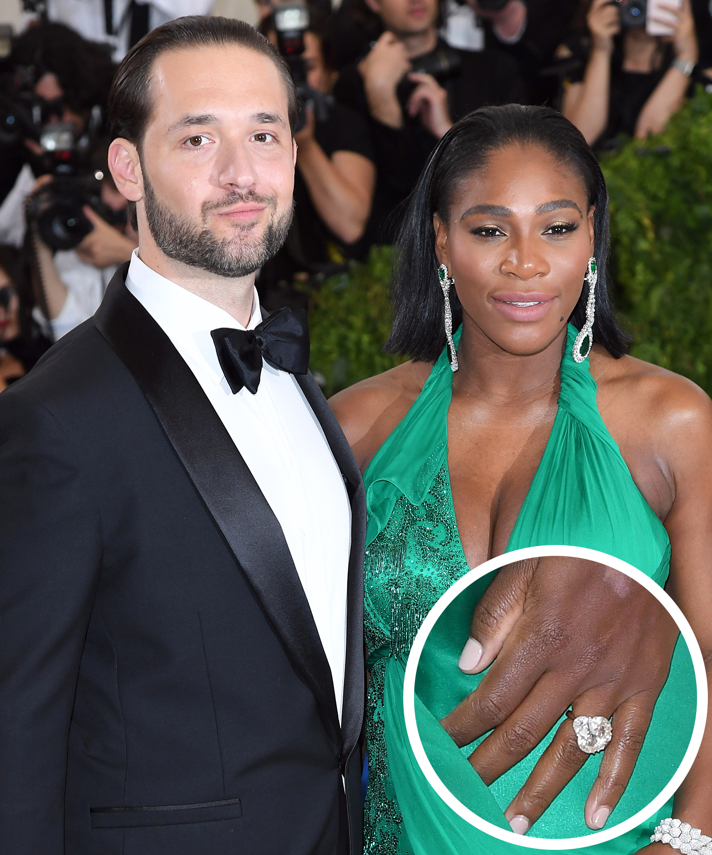 <p>Serena Williams and Alexis Ohanian</p>