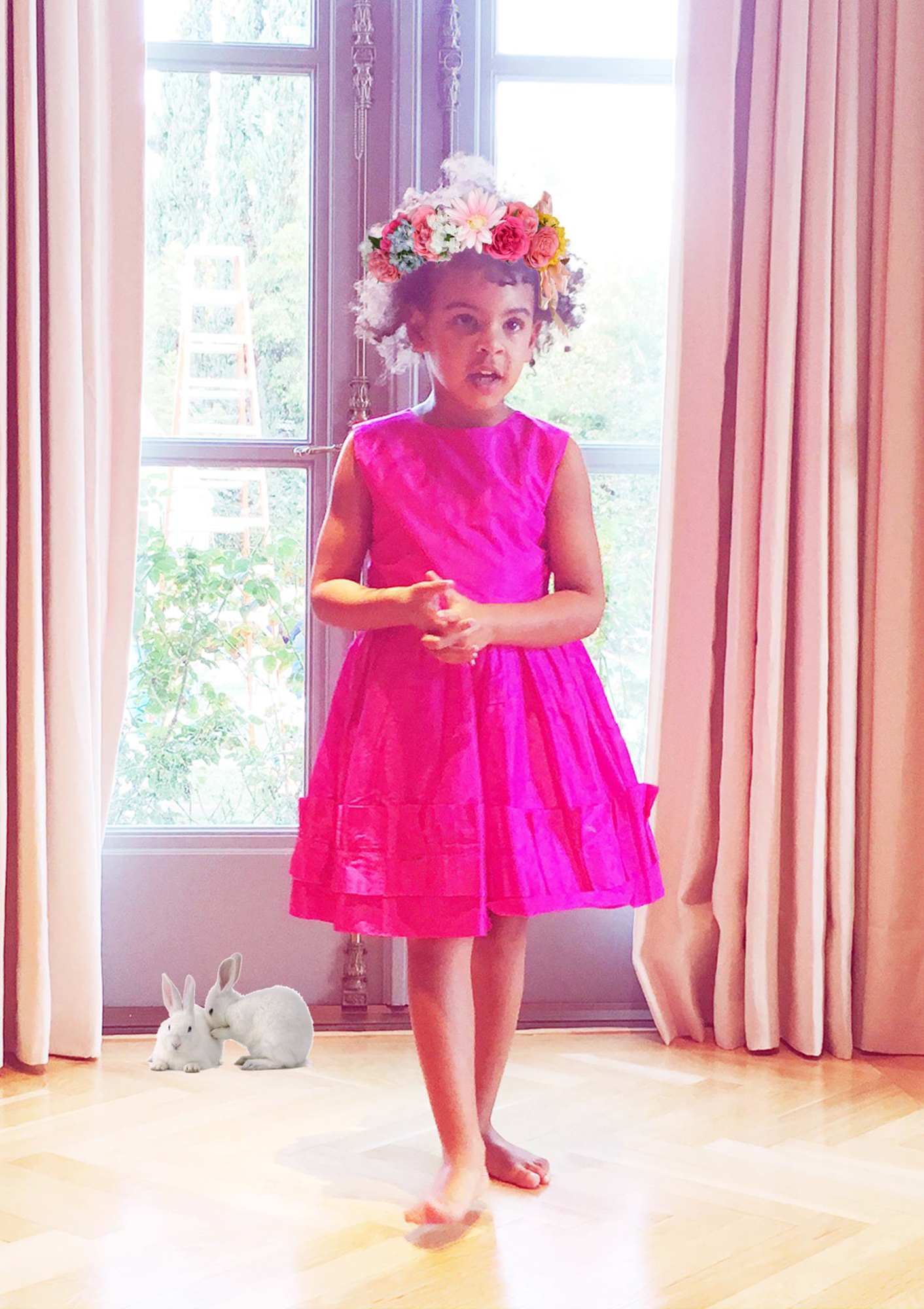 Beyoncé and Blue Ivy Welcome Spring with a Bunny-Filled Tea Party
