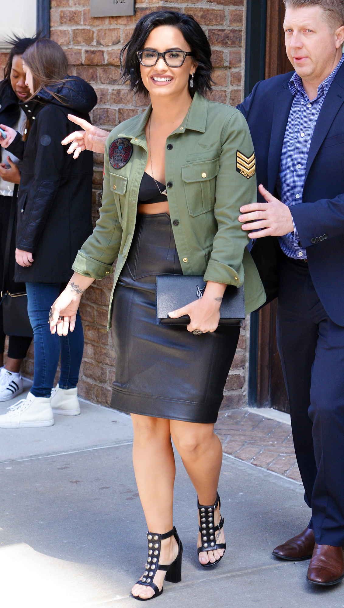 Demi Lovato Offers a Lesson in Styling Leather Separates—See Her Flawless Getup