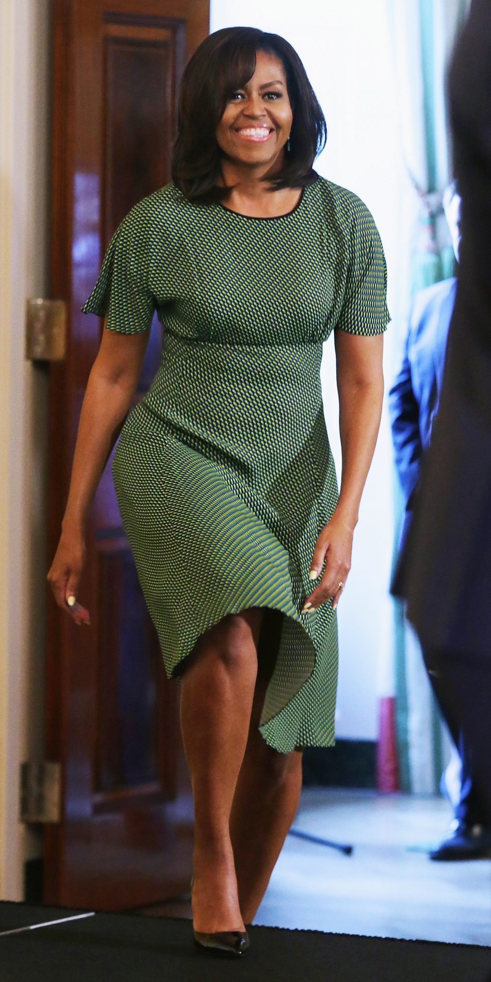 Michelle Obama Celebrates the Iranian New Year at the White House in a Springy Look