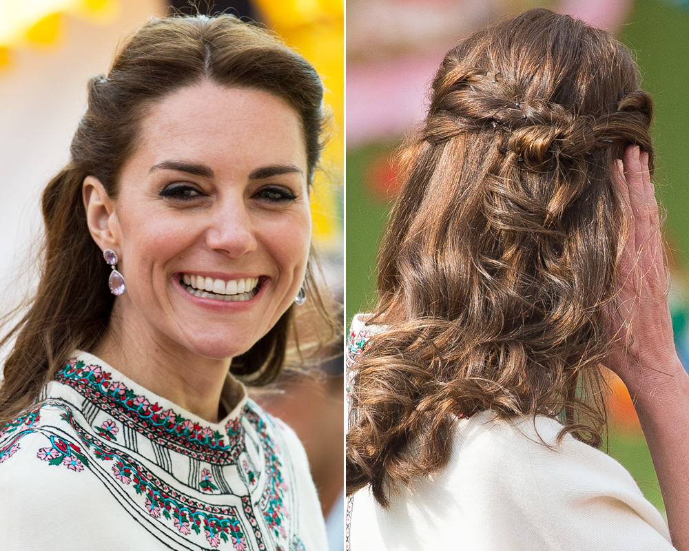 <p>Knotted Half-Updo</p>