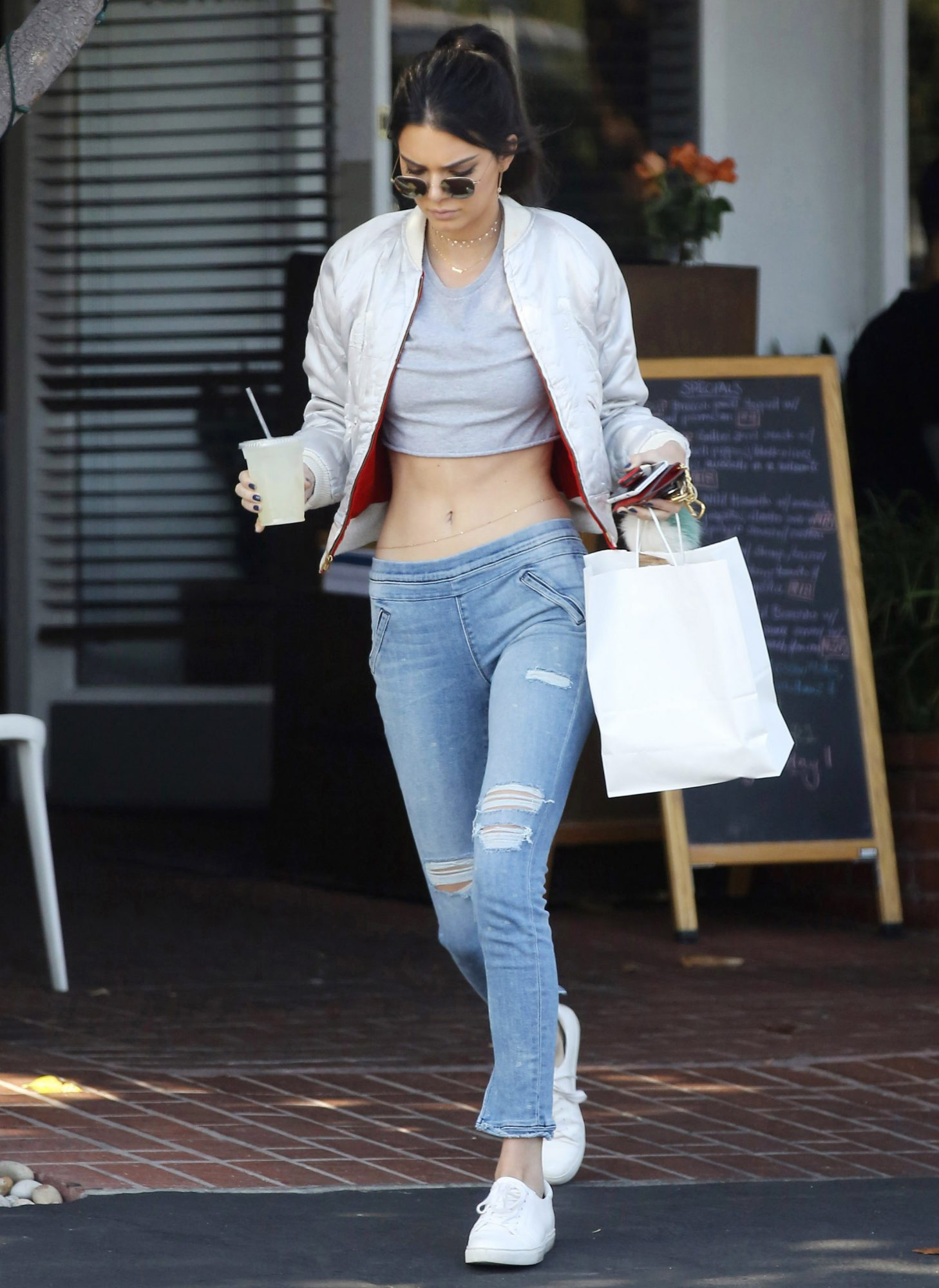 Kendall Jenner Hits the L.A. Streets in a Crop Top and Belly Chain
