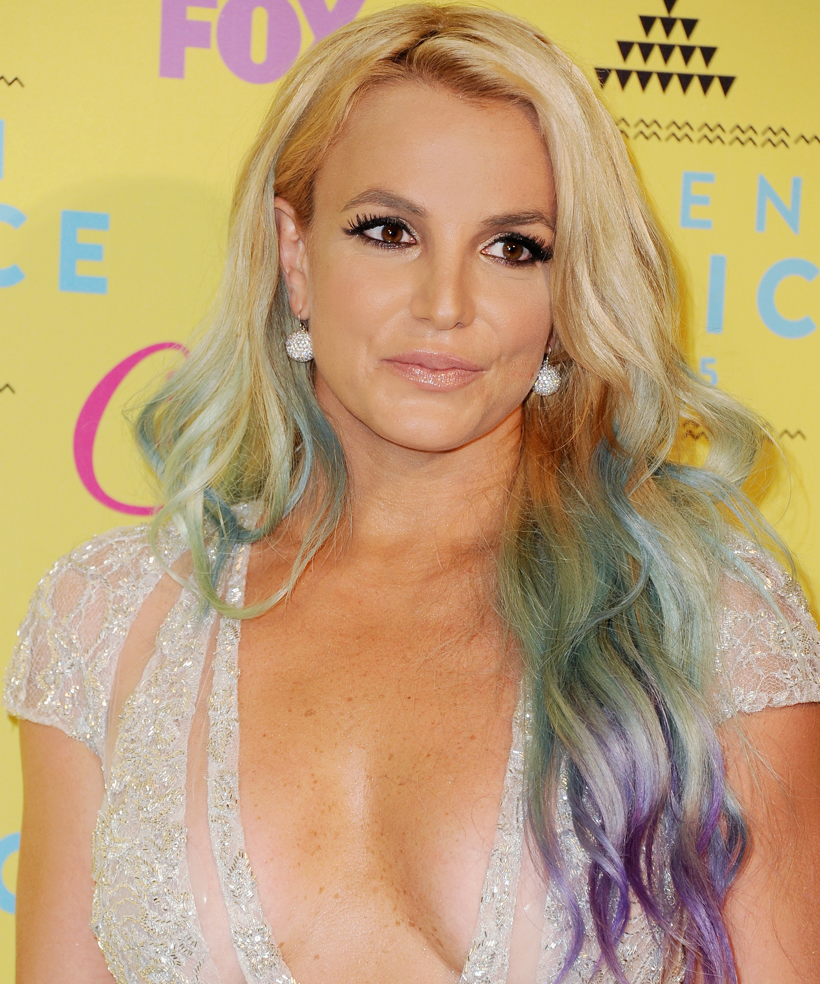 Singer Britney Spears poses in the press room at the Teen Choice Awards 2015 at Galen Center on August 16, 2015 in Los Angeles, California.
