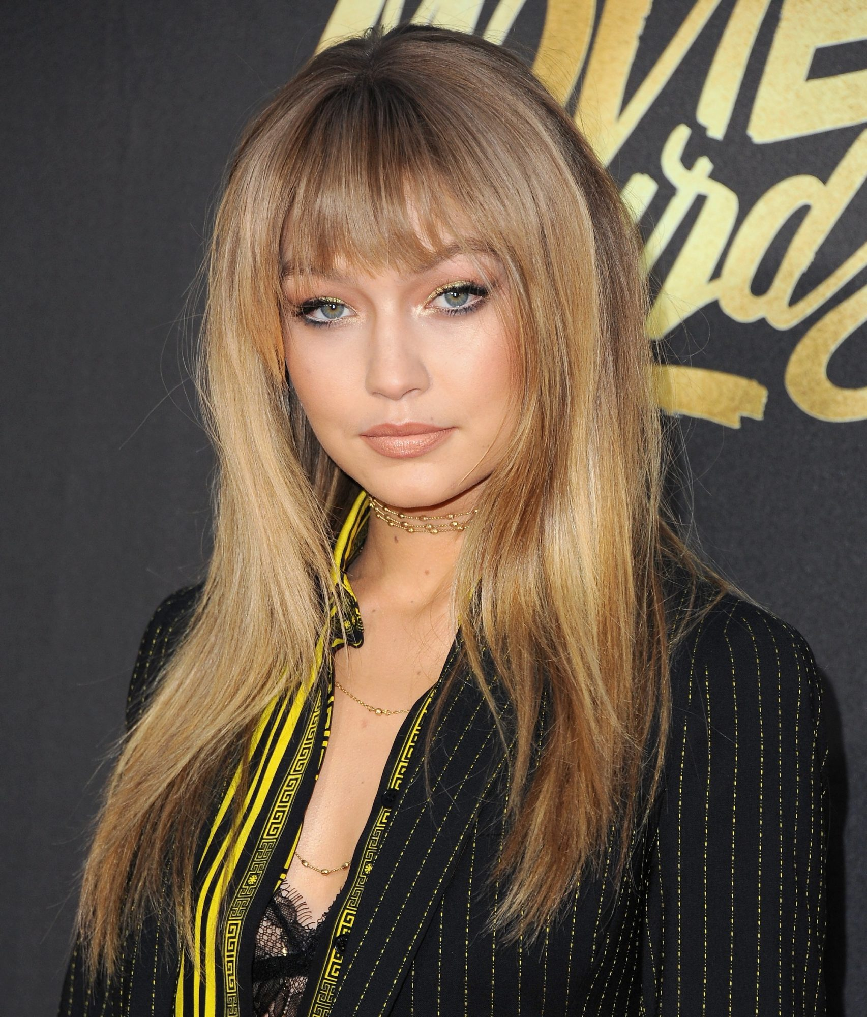Currently Obsessing Over Gigi Hadid's Glitter Manicure… and Her Burger