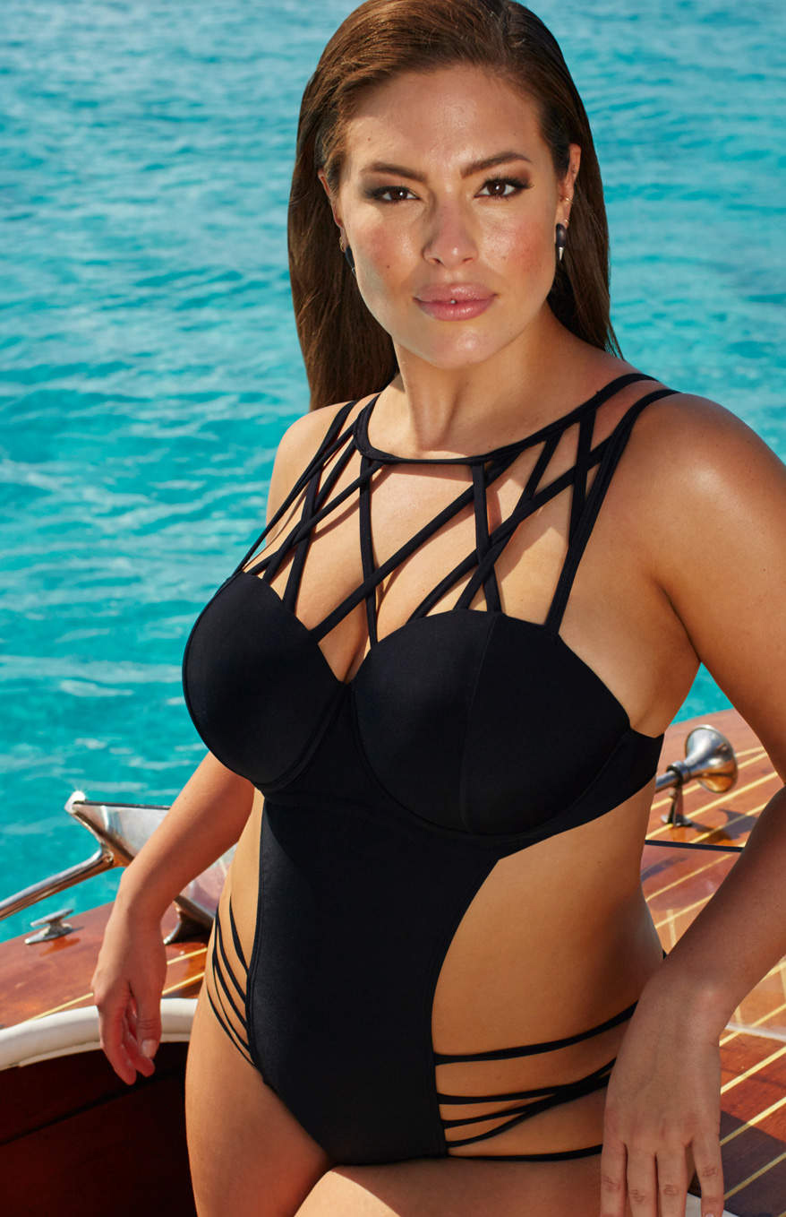 Ashley Graham's New Plus-Size Swimwear Line Is Officially Here—See the Sexy Designs for Summer!