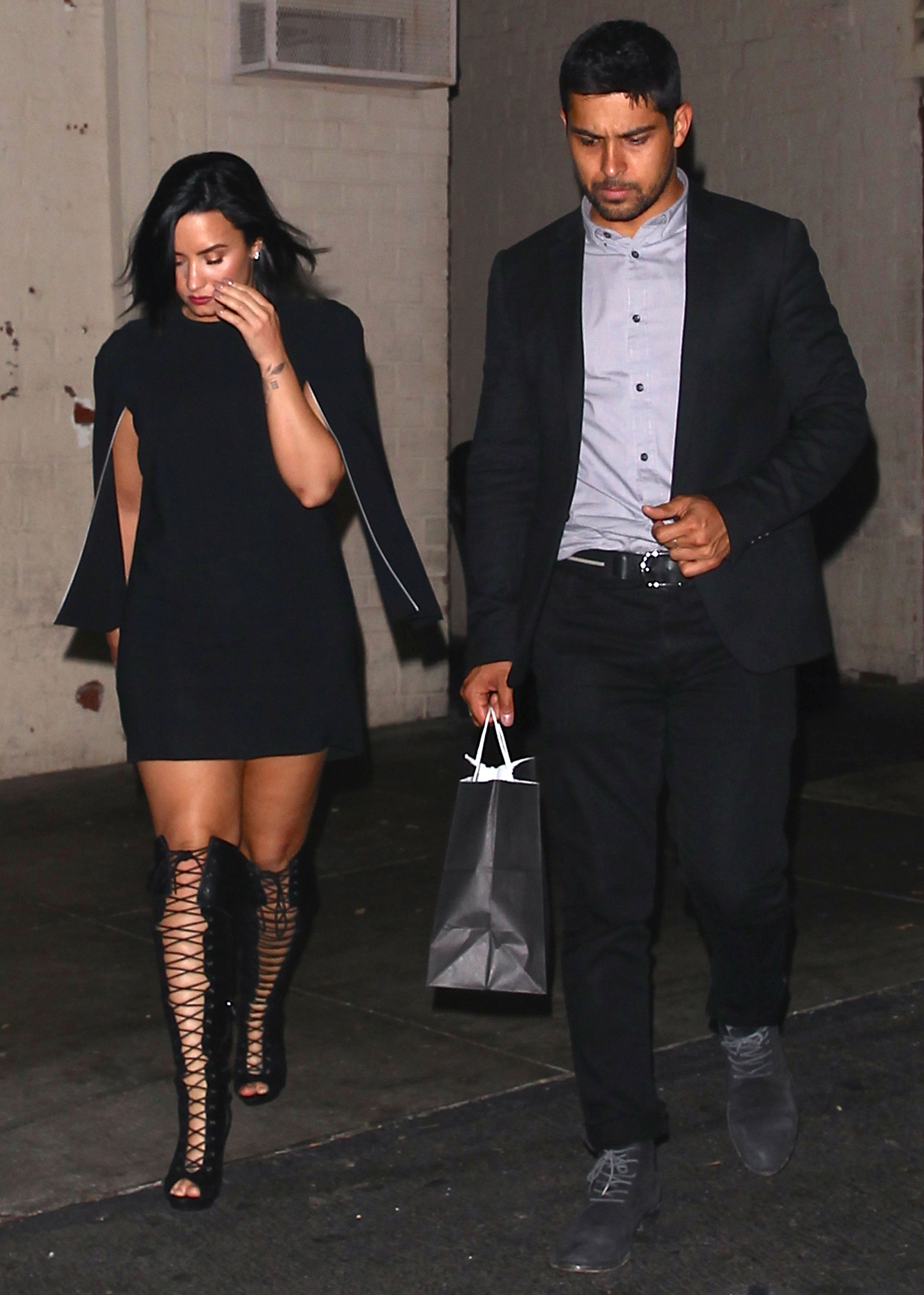 <p>Demi Lovato and Wilmer Valderrama</p>