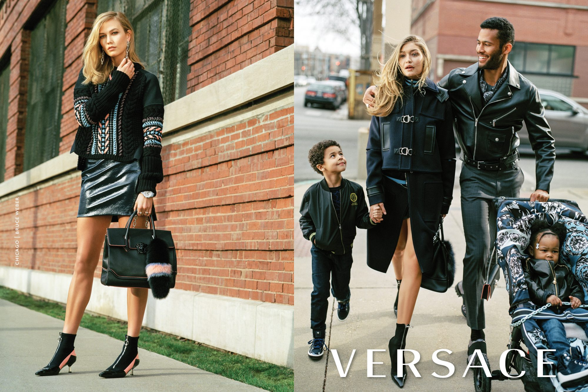 Here's What Karlie Kloss and Gigi Hadid Would Look Like as Stylish Moms in Versace's Fall 2016 Campaign