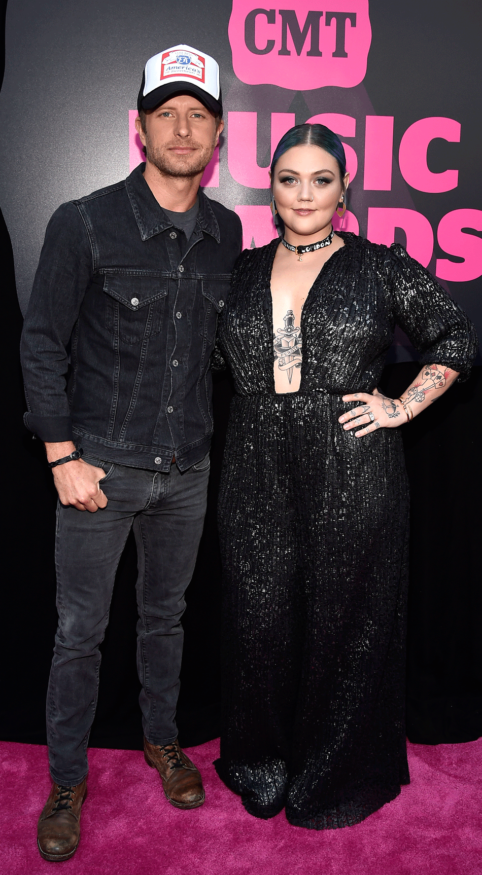 <p>Dierks Bentley and Elle King</p>