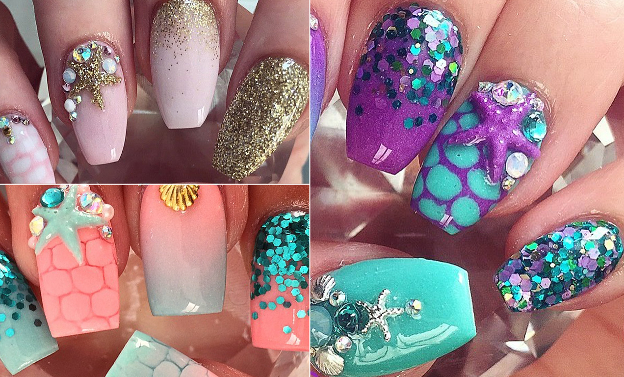 Instagram's Mermaid Nails Trend Lets You Channel Your Inner Ariel