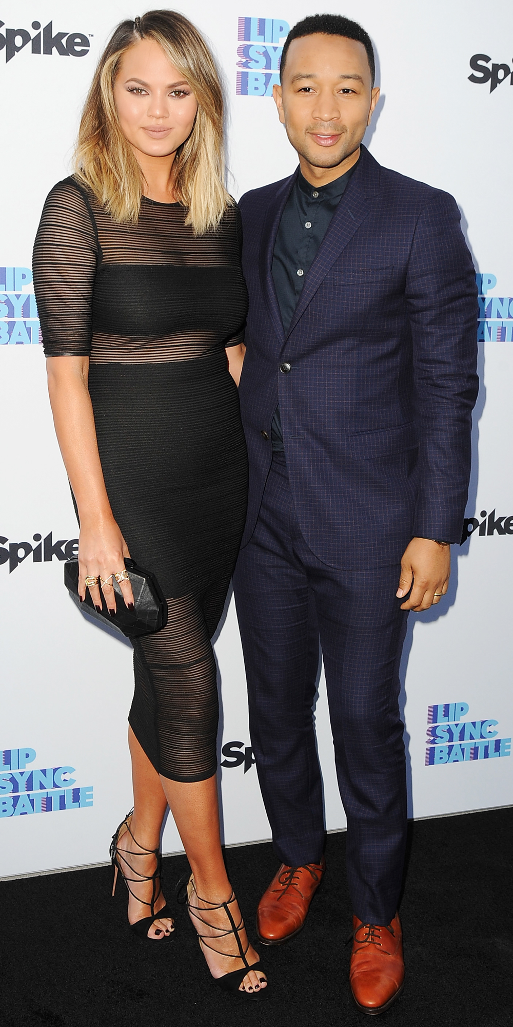 Model Chrissy Teigen and recording artist John Legend arrive at the FYC Event - Spike's 'Lip Sync Battle' at Saban Media Center on June 14, 2016 in North Hollywood, California.