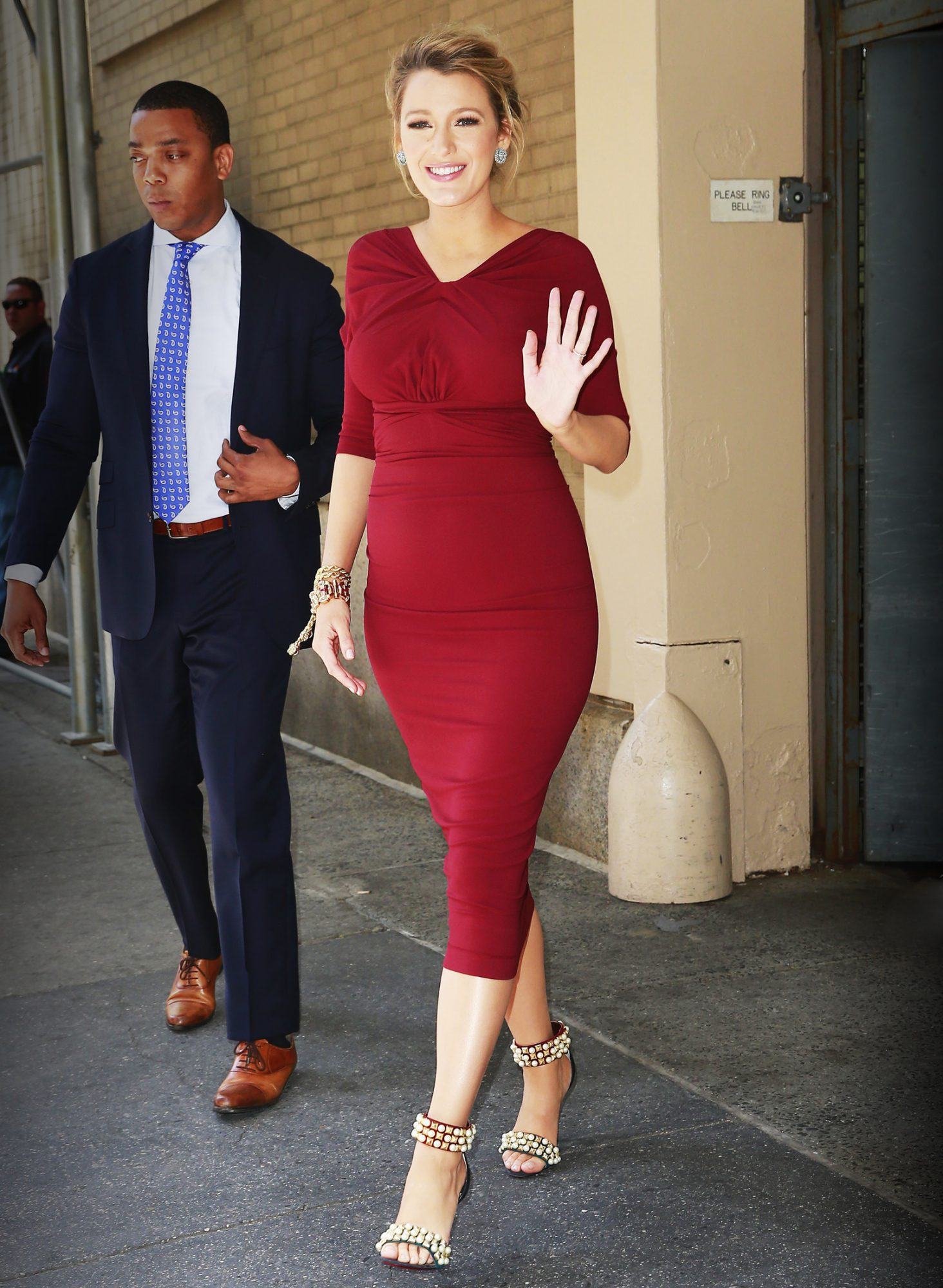 Blake Lively Is a Vision in Red in Her Latest Form-Fitting Maternity Look