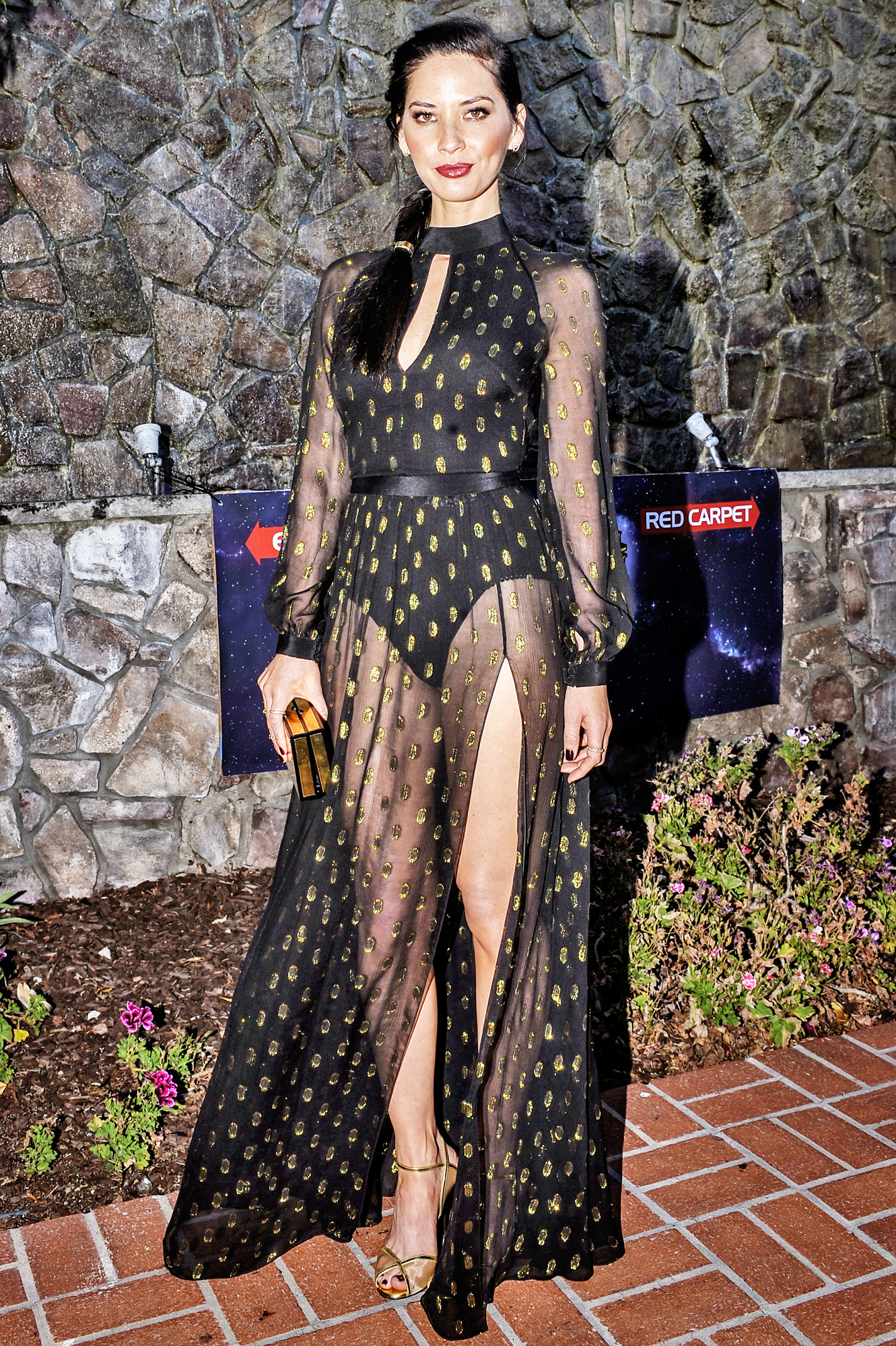 Olivia Munn's Leg-Bearing Dress Was Out of This World at the 2016 Saturn Awards