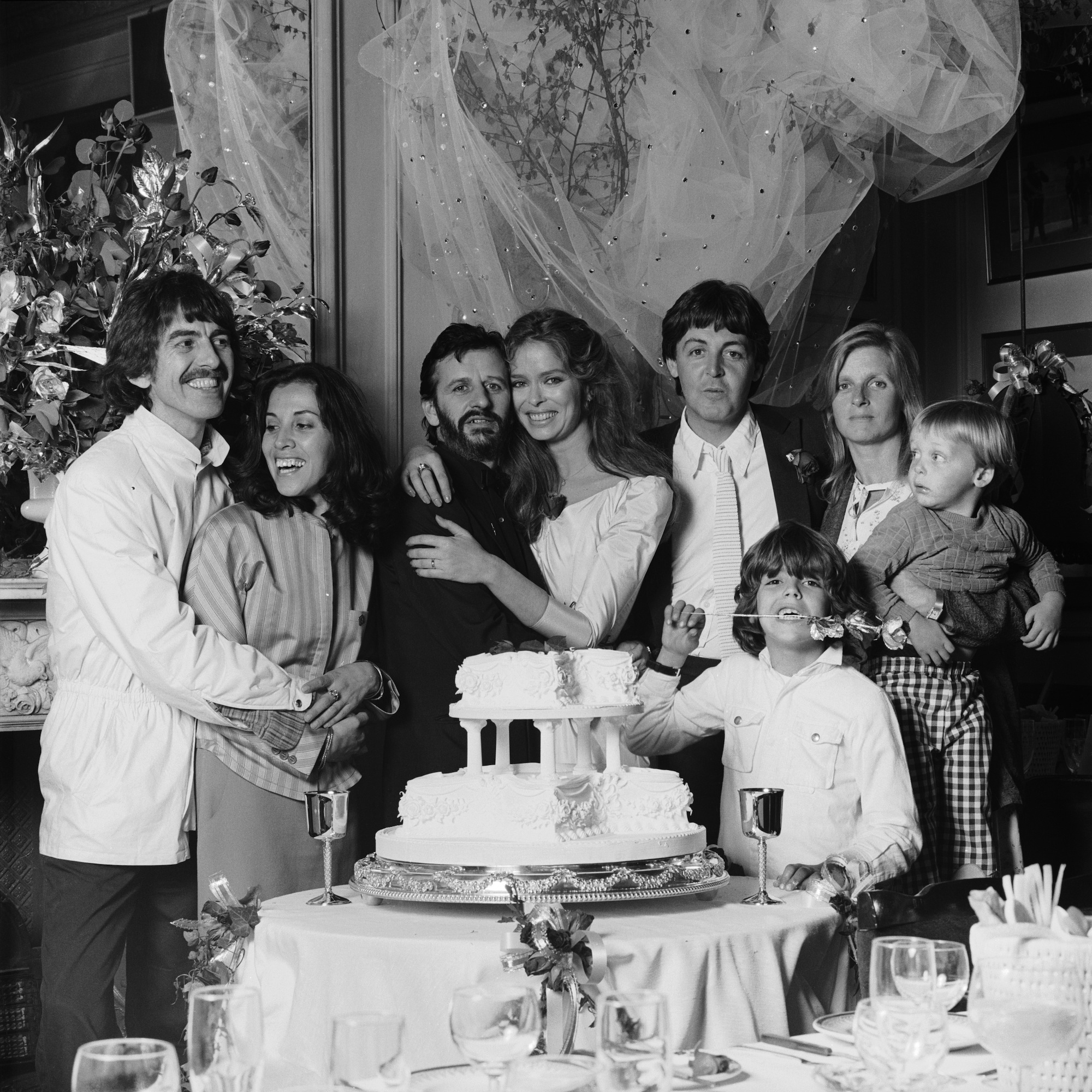 <p>Ringo Starr and Barbara Bach</p>