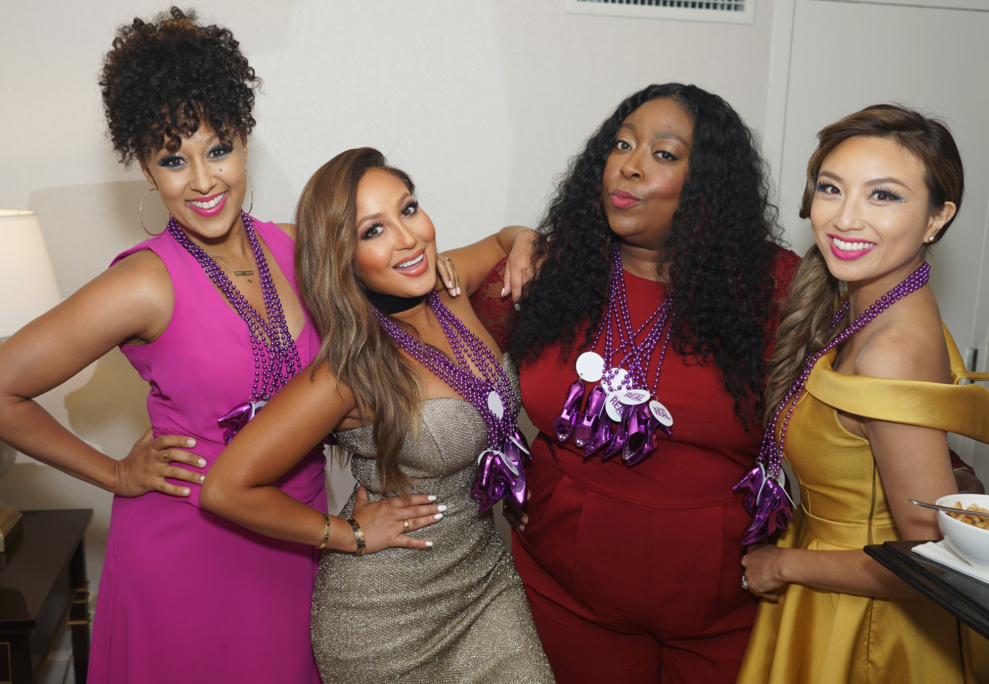 <p>Tamera Mowry, Adrienne Bailon, Loni Love and Jeannie Mai</p>