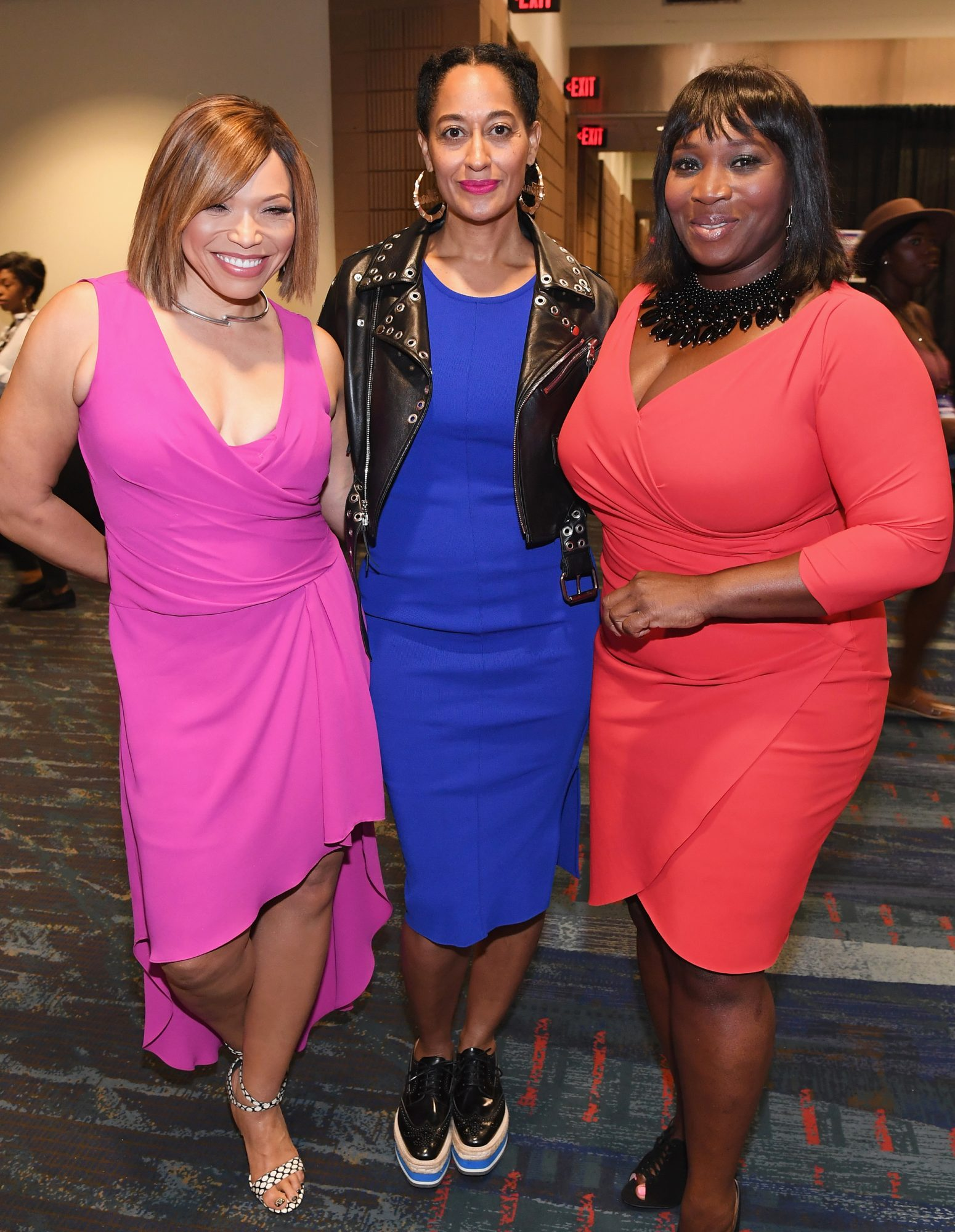 <p>Tisha Campbell-Martin, Tracee Ellis Ross, and Bevy Smith</p>