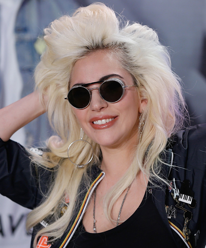 NEW YORK, NY - MAY 04:  Lady Gaga launches Love Bravery Collection at Macy's Herald Square at Macy's Herald Square on May 4, 2016 in New York City.  (Photo by John Lamparski/WireImage)