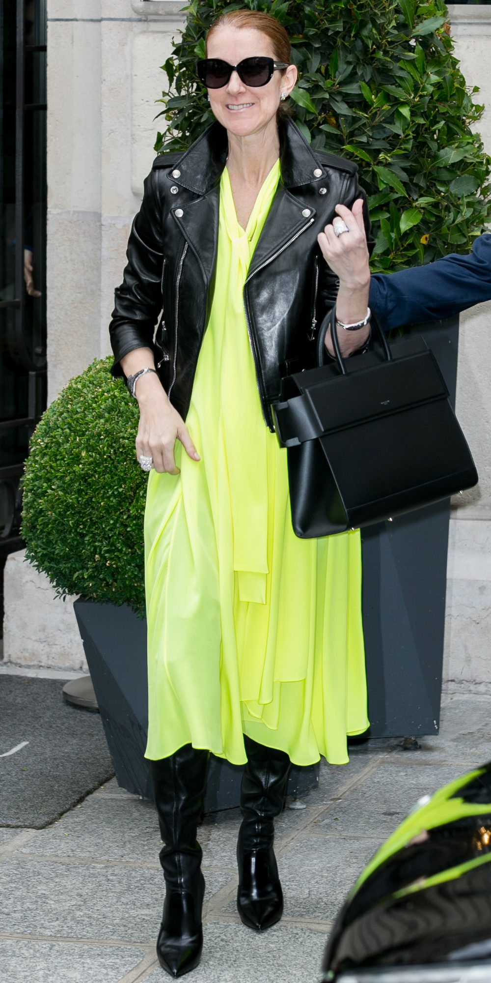 IN NEON YELLOW BALENCIAGA