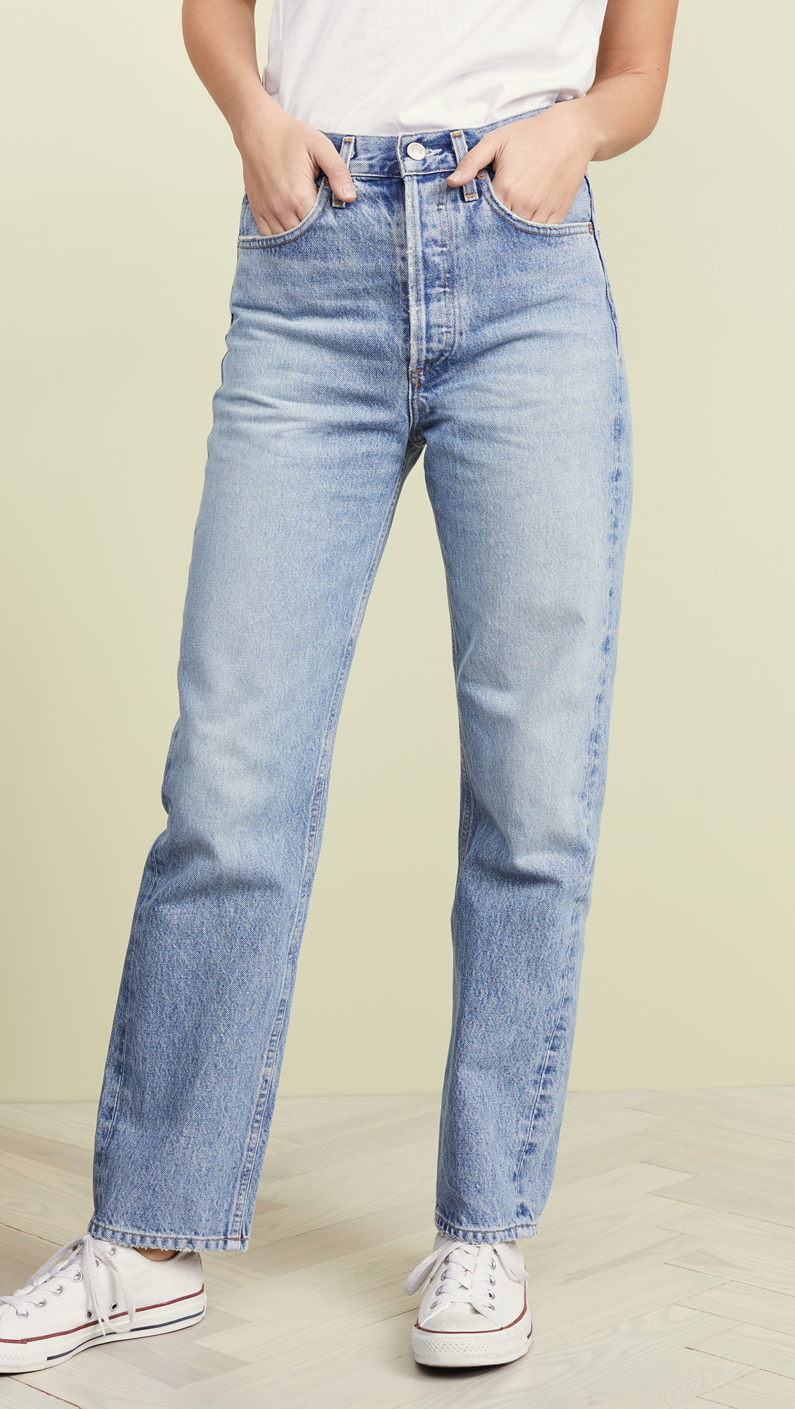 A Gold E Mid-Rise '90s Loose Fit Jeans