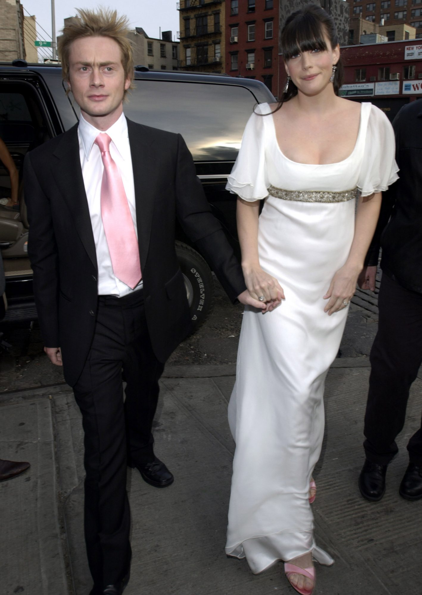 <p>Liv Tyler and Royston Langdon</p>