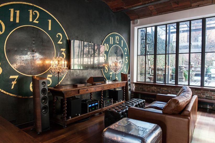 This clock-themed room that overlooks the terrace