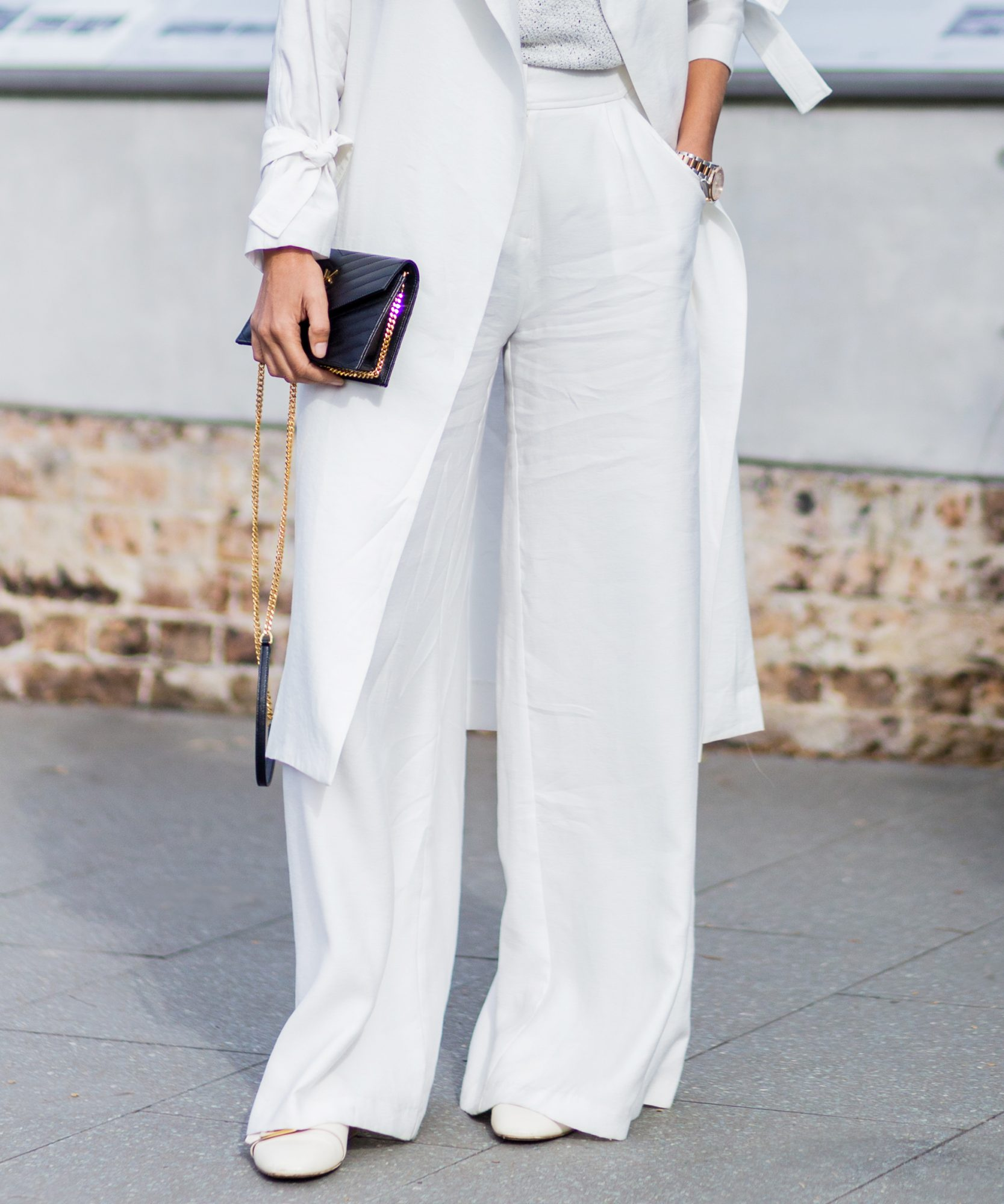 Wide Leg Pants With Flats