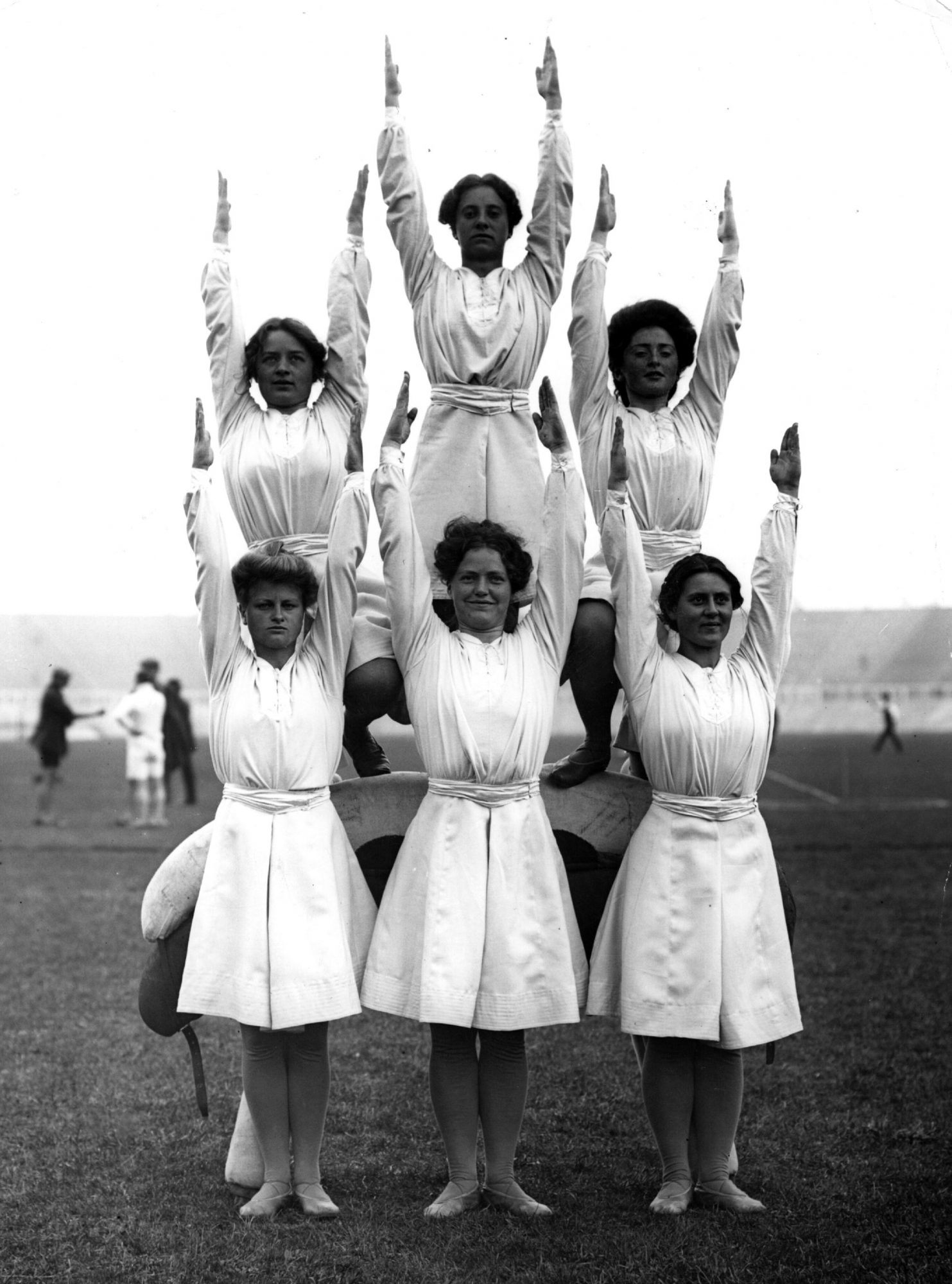 <p>1908 London Olympics, Danish Gymnasts</p>