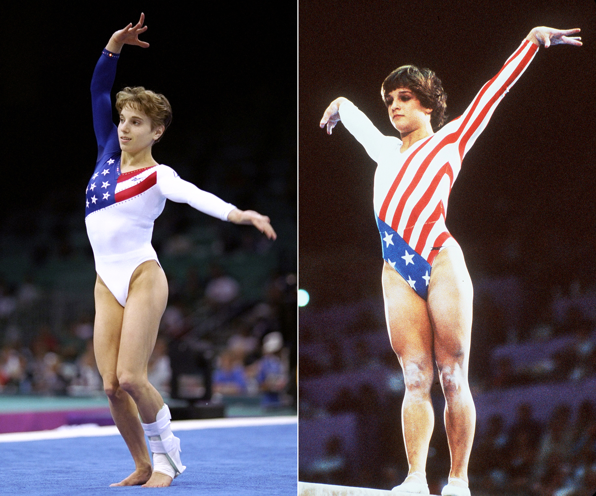 <p>1984 Los Angeles Olympics, Mary Lou Retton & 1996 Atlanta Olympics, The Magnificent Seven, USA</p>