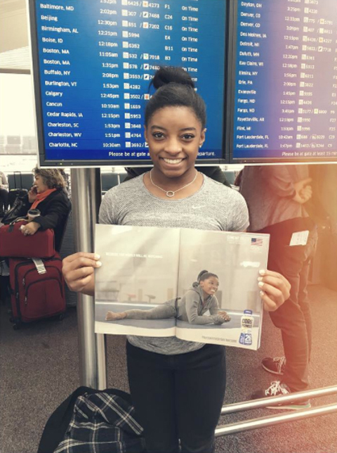 <p>She's making her mark in magazines.</p>