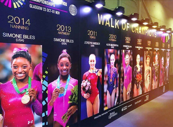 <p>She's the reigning world all-around champion.</p>