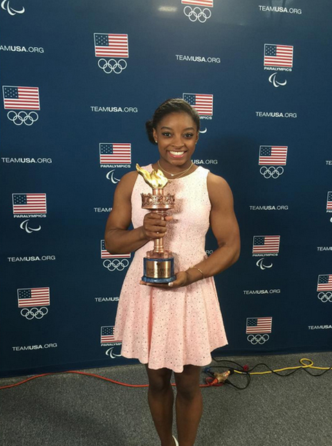 <p>She is the Team U.S.A. Female OLYMPIC Athlete of the Year. </p>